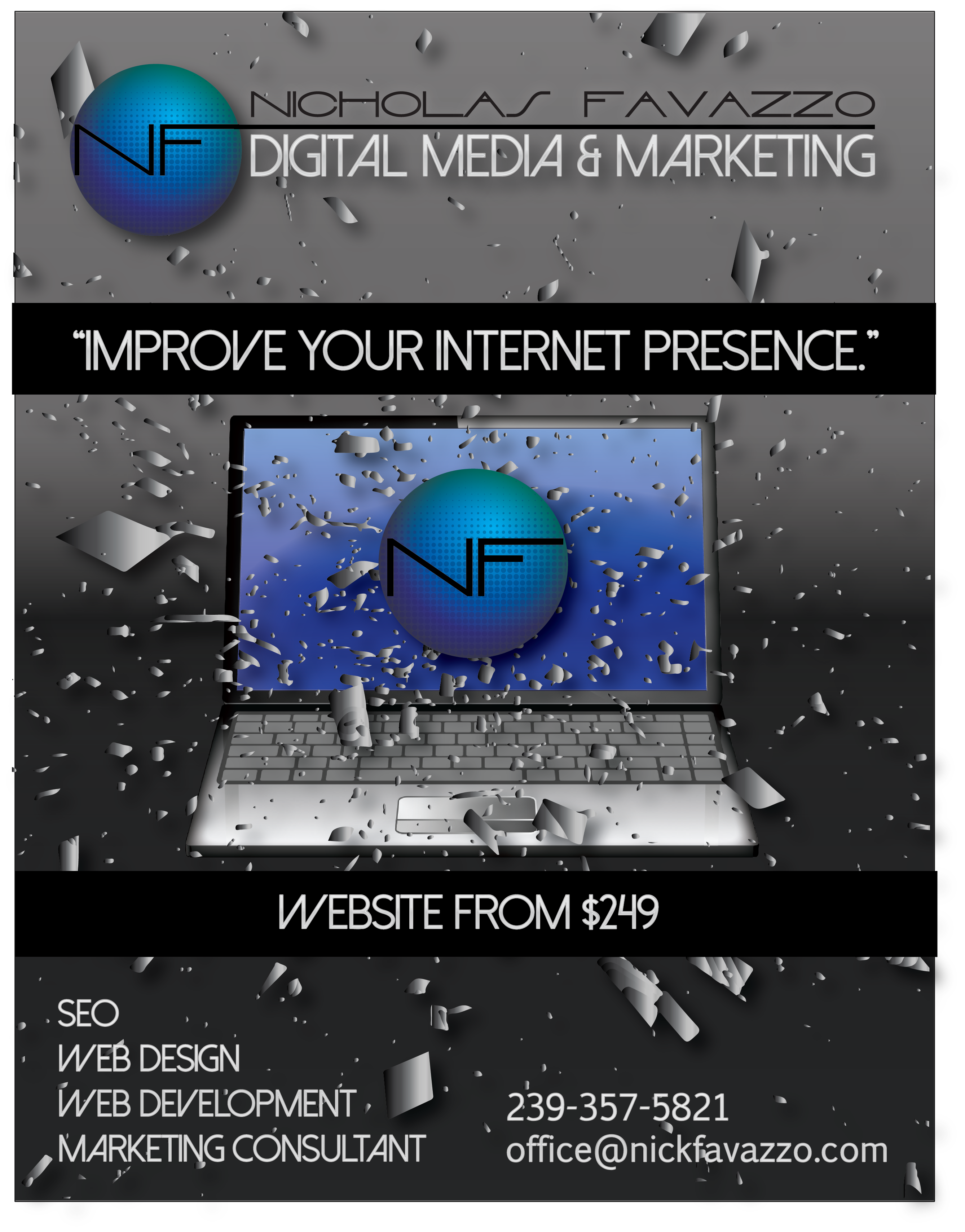 Nicholas Favazzo Digital Media & Marketing offers affordable responsive website design and development.